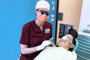 protossido d'azoto, dentista pediatrico